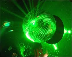 green glitter ball