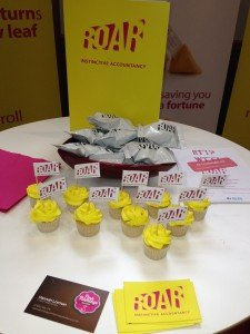 roar cupcake branding