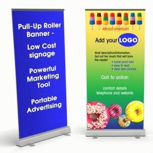 design a pull-up roller banner