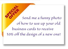 10% off the design of a new business card