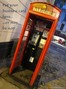 telephone box advertising