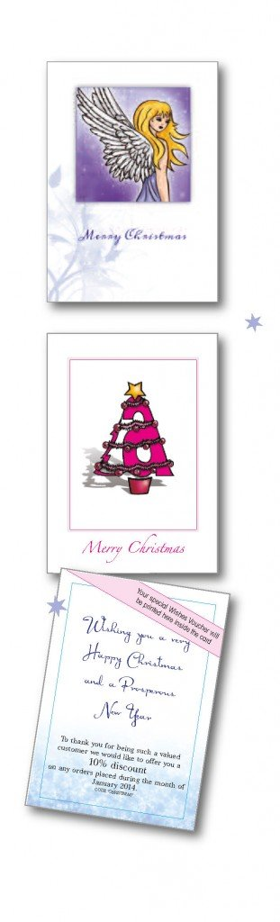 bespoke christmas cards and voucher