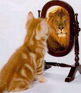 reflecting the 'brave lion' in you!