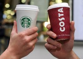 Coffee from Costa or Starbucks, logos need to inform. logos are just symbols